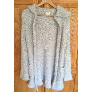 Olive and Oak Gray Extra Fuzzy Cardigan S/M